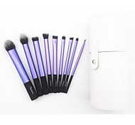 9pcs Professional Makeup Brush Set with White Cylinder Bag