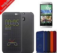 Fashion Small Round Hole PC and TPU Full Body Case  with Screen Protector for HTC One M8 (Assorted Colors)