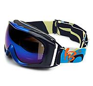HB Black & Blue Frame Double Lens Anti UV Snow Googgles