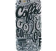 estuche rígido letras de café patrón para el iphone 6