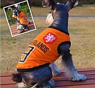 Katzen / Hunde T-shirt Orange Sommer Sport Hochzeit / Cosplay