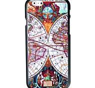 caso difícil mapa padrão de bússola para iphone 6