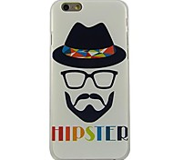 HIPSTER Pattern Plastic Hard Back Cover for iPhone 6
