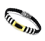 Women's  Fashion  Stainless Steel  Leather  Bracelet (Random Color)
