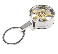 High Quality Wheel Style Stainless Steel Car Keychain