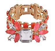 JANESTONE Women's Fashion Rainestone Exaggerated Flower Shape Bracelet