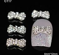 10pcs Cute Bowtie DIY Glitter Rhinestone Alloy Accessories Nail Art Decoration