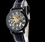 MCE Men's Watch Auto-Mechanical Skeleton Hollow Engraving