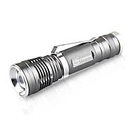 TwoBoys Waterproof 3-Mode Zoom LED Flashlight(500LM,1*18650,Silver)