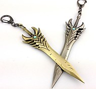 Weapon Inspired by LOL Cosplay Anime/ Video Games Cosplay Accessories Weapon Silver / Cyan Alloy Male