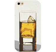 Wine Glass Pattern Back Case for iPhone 4/4S
