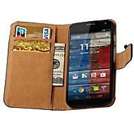 Tasche aus echtem Leder mit Kartensteckplätzen für Motorola Moto x xt1055 xt1058 xt1060