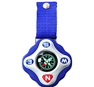 Camping Hiking Mini Portable Compass with Strap and Keyring (Blue and White)