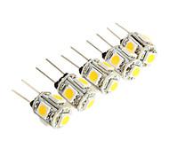 g4 2.5W 5 * SMD 5050 luce 150-180lm 3000k ha condotto la lampadina per la luce di lettura auto (12V DC)