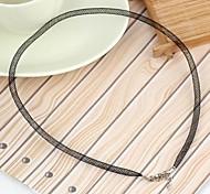 Mesh Nylon Rope Necklace Black (1Pc)