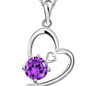 925 Sterling Silver Heart With Your Necklace With Water Wave Necklace