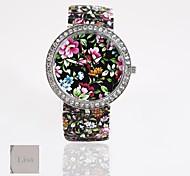 novo estilo presente personalizado pulseira de couro pvc, com ligação a impressão relógio de quartzo unisexfashion