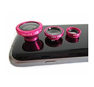 universelle 3-en-1 180 ° fisheye grand angle macro pour iphone 6 et d'autres (couleurs assorties)