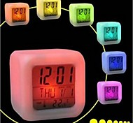 7 Colorful Flash Touch Lights Clock