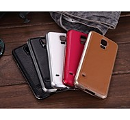 Luphie Geniune Leather Back Cover Aluminum Bumper Frame for Samsung Galaxy S5 i9600 (Assorted Colors)