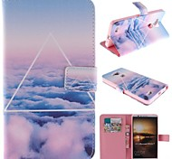 Only Beautiful Cloud Design PU Leather Full Body Case with Stand and Card Slot for Huawei Mate 7