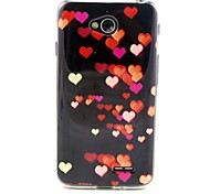 For LG Case Pattern Case Back Cover Case Heart Soft TPU LG