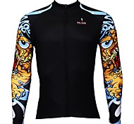 PALADIN Bike/Cycling Jersey / Tops Men's Long Sleeve Breathable / Ultraviolet Resistant / Quick Dry 100% Polyester Fashion BlackS / M / L