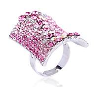 Europäische und amerikanische Mode Damen Mehrfarbenrhinestone Ringe (lila, pink) (1pc)