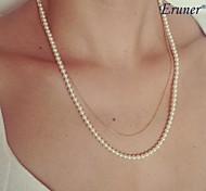Fashion Pearl Necklace(Multi-layer Chain)