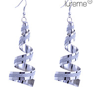 Lureme®Twisted Glitter Dangle Earrings
