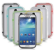 DF Colorful Middle Transparent TPU+PC Bumper for Samsung S4 Mini I9190(Assorted Color)