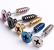 Stainless Steel American Very Cool Body Piercing Tragus Barbell Earring Screw Ear Stud