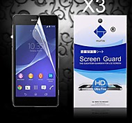 HD Screen Protector with Dust-Absorber for Sony Z2 (3 PCS)