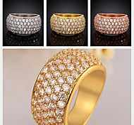 AAA Zircon 18K Gold Plating Ring Exquisite Gift