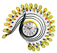 ferro peafowl contemporânea relógio de parede rodada