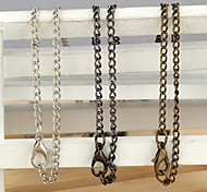 Lock-Shaped Pendent/Pocket Watch Accessory Alloy Necklace (1Pc)(3 Colors)