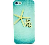 golden star Meer Muster harten Abdeckungsfall für iphone 5c