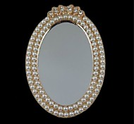 1PCS Mirror Alloy Accessories Embedded Pearl Handmade DIY Craft Material