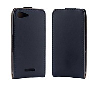 Solid Color PU Leather Full Body Protective Cover for Sony Xperia E3/D2203