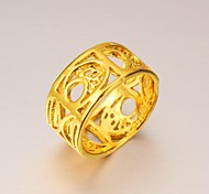 Exaggerated Personality wide 24 K Gold Ring