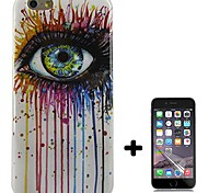 Eye color Design Pattern Soft TPU Case Cover with Screen Protector for iPhone 6