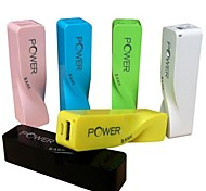 2600mAh Mini Portable Power Bank External Battery for iPhone 6/6 plus/5/5S/Samsung S4/S5/Note2(Assorted Colors)