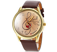 Women's Musical Note Pattern PU Band Quartz Wrist Watch (Assorted Colors) Cool Watches Unique Watches Fashion Watch