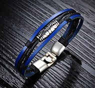 Fashion Personality Leather Woven Men's Bracelet