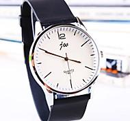 reloj de silicona de línea de moda de cuarzo banda ronda de los hombres (colores surtidos)
