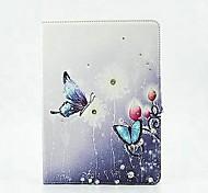 encantadora mariposa del Rhinestone de la PU de la tableta protege el caso con el soporte para el ipad 2 de aire