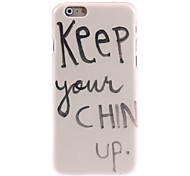 Keep Your Chin Up Design Hard Case for iPhone 6 Plus