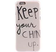 mantenha seu queixo hard case de design para iPhone 6 Plus