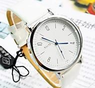 relógio de mostrador redondo digitais pu banda quartzo moda masculina (cores sortidas)