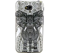 Limit a Elephant  Pattern TPU Soft Back Cover for LG L70